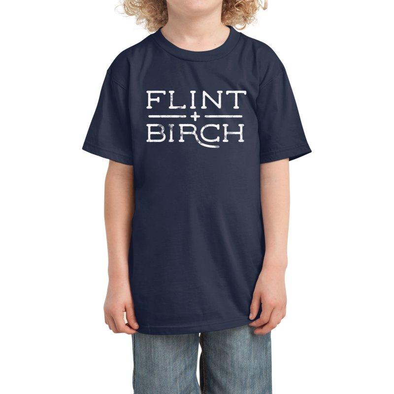 """Flint + Birch"" White Kids T-Shirt by Flint + Birch"