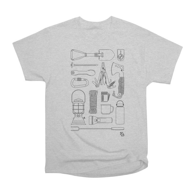 """Survival Kit"" Black Men's T-Shirt by Flint + Birch"