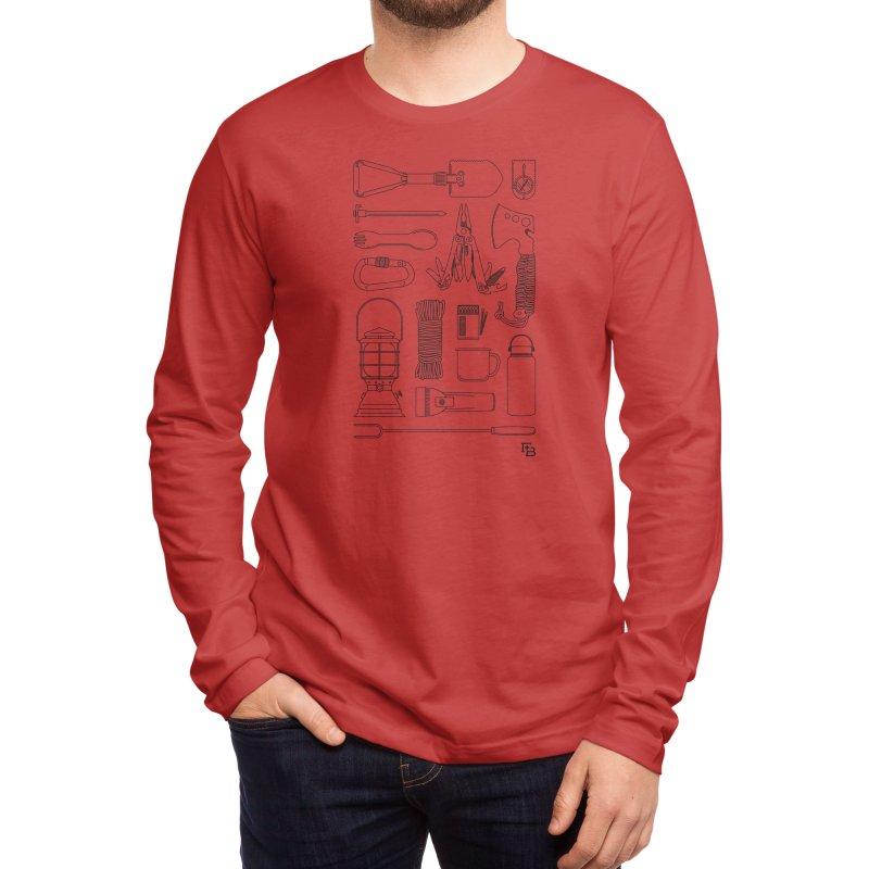 """""""Survival Kit"""" Black Men's Longsleeve T-Shirt by Flint + Birch"""