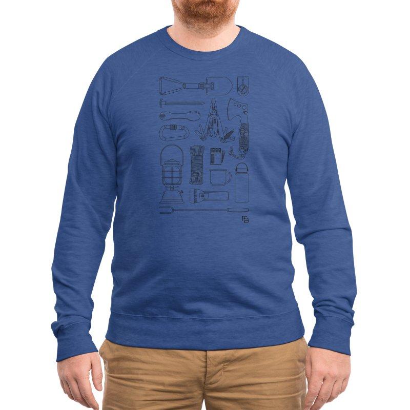 """""""Survival Kit"""" Black Men's Sweatshirt by Flint + Birch"""