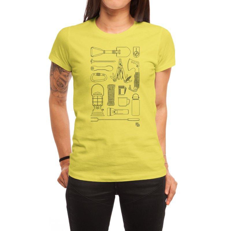 """""""Survival Kit"""" Black Women's T-Shirt by Flint + Birch"""