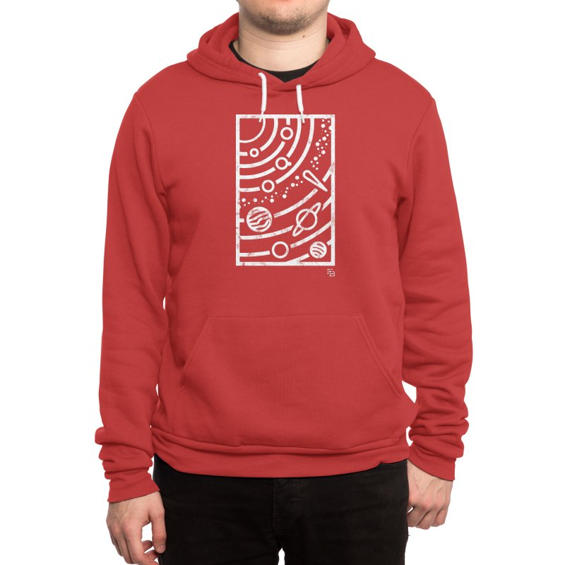 """""""Astronomical"""" White Men's Pullover Hoody by Flint + Birch"""