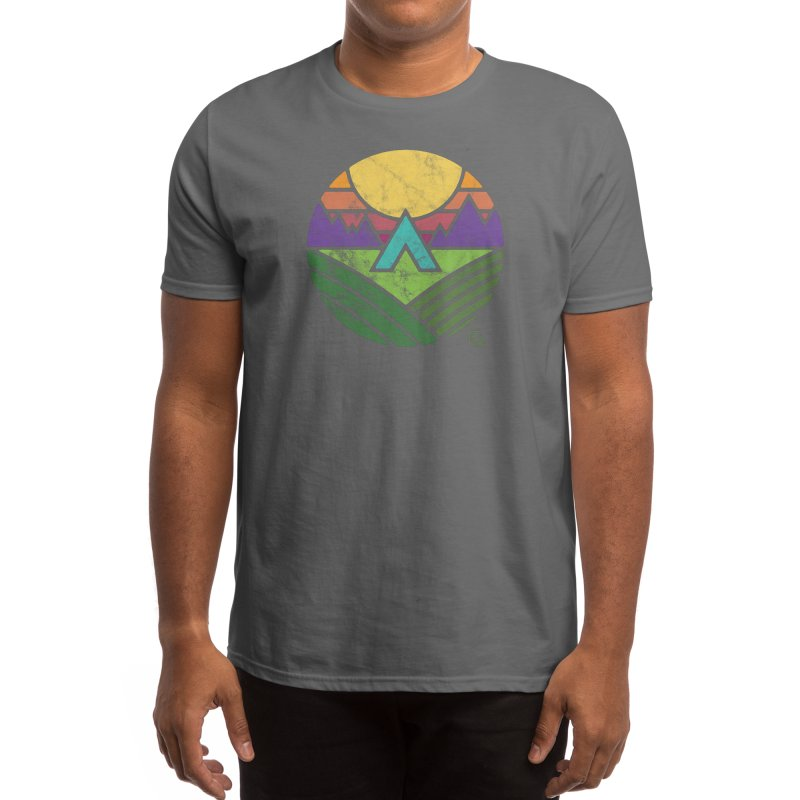 """Trailhead"" Color Men's T-Shirt by Flint + Birch"