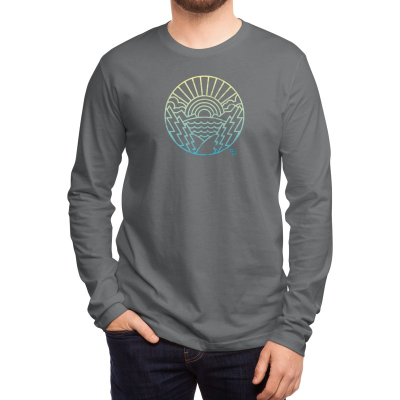 """""""Majesty"""" Gradient Men's Longsleeve T-Shirt by Flint + Birch"""