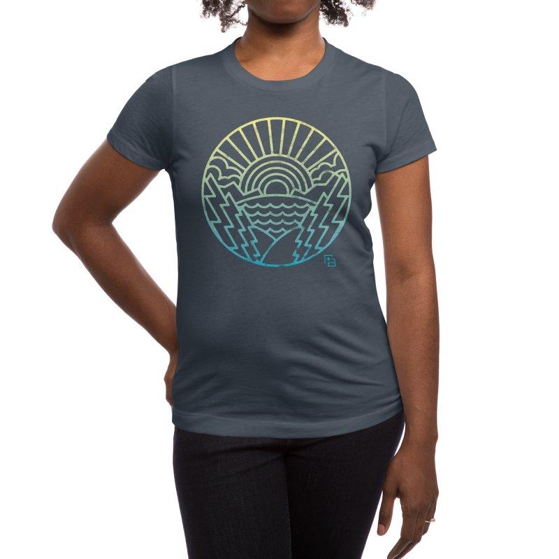 """""""Majesty"""" Gradient Women's T-Shirt by Flint + Birch"""