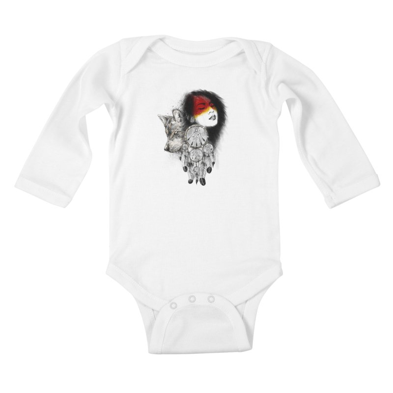 Dream Catcher Kids Baby Longsleeve Bodysuit by flintskyy's Artist Shop