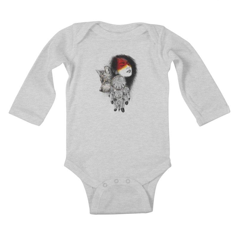 Dream Catcher Kids Baby Longsleeve Bodysuit by flintskyy's Artist Shop