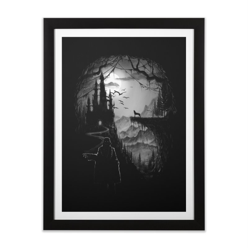 Five Star Monster Hotel Home Framed Fine Art Print by flintskyy's Artist Shop