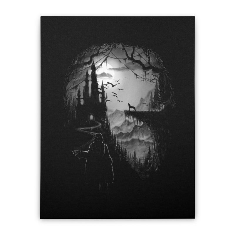 Five Star Monster Hotel Home Stretched Canvas by flintskyy's Artist Shop