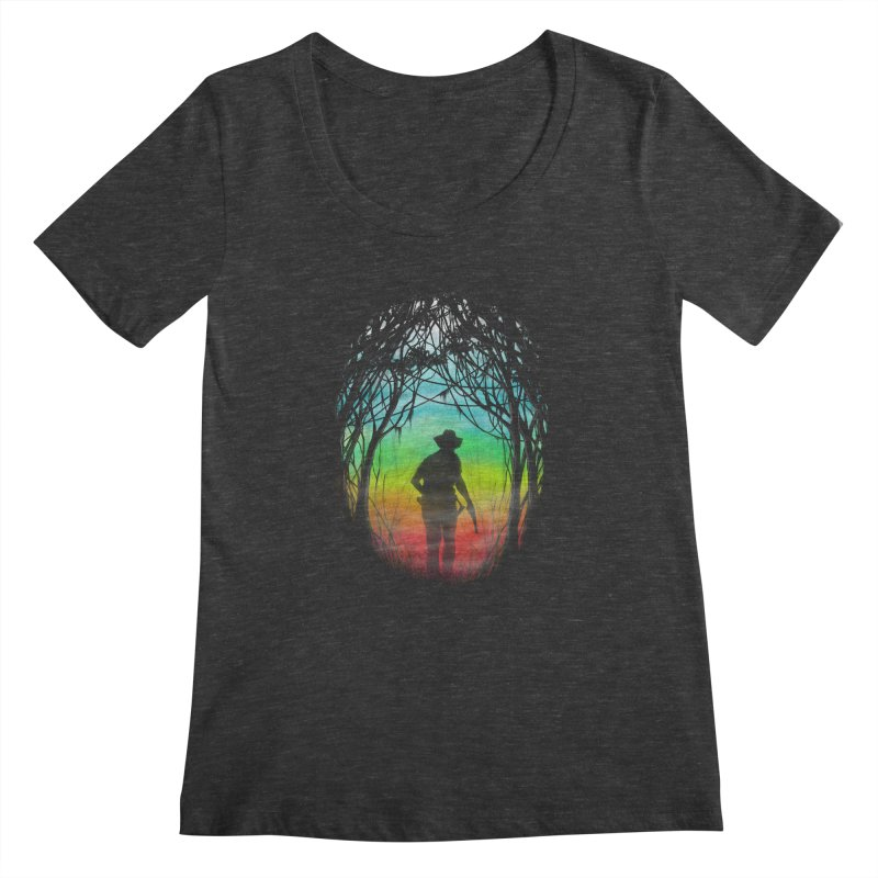 The Hunt Women's Scoopneck by flintskyy's Artist Shop