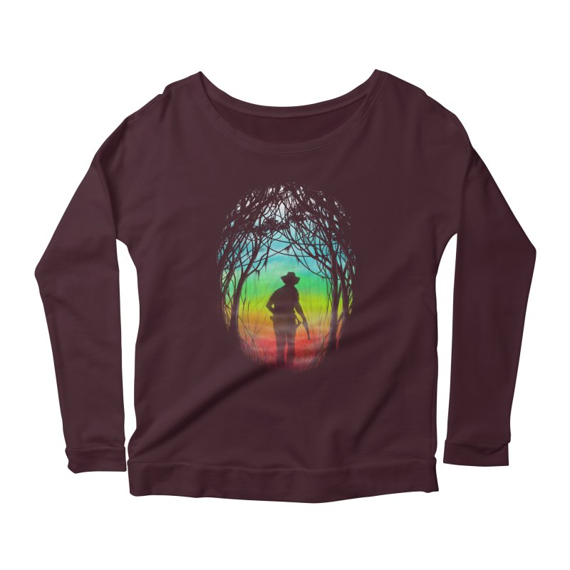 The Hunt Women's Longsleeve Scoopneck  by flintskyy's Artist Shop