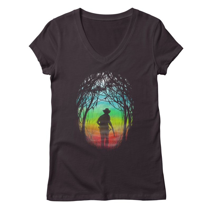 The Hunt Women's V-Neck by flintskyy's Artist Shop