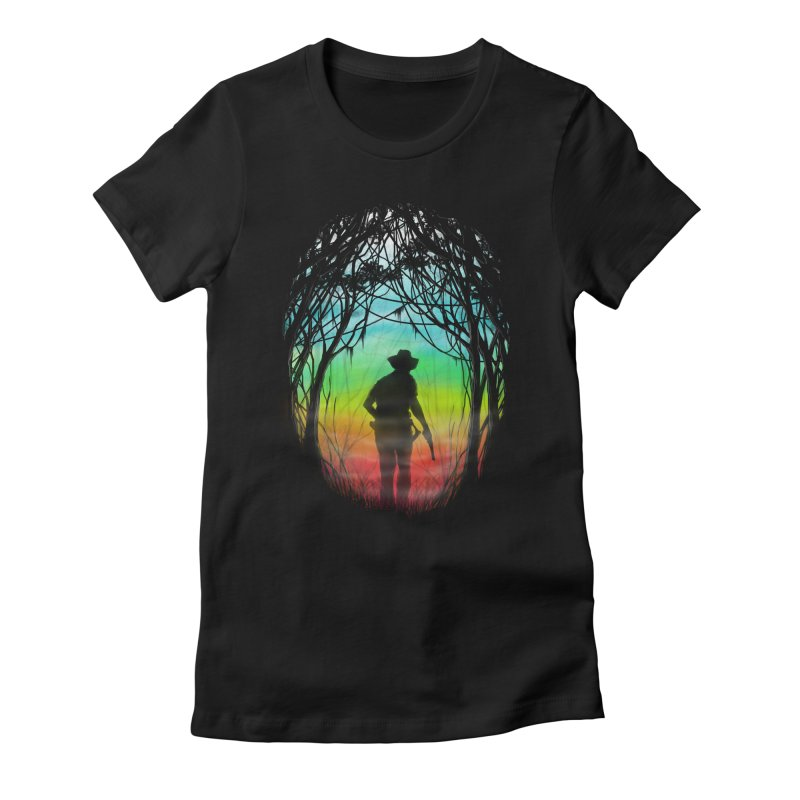 The Hunt Women's Fitted T-Shirt by flintskyy's Artist Shop