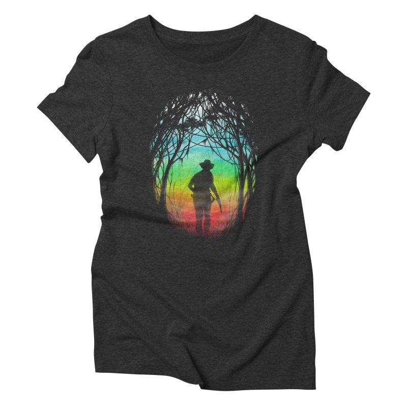 The Hunt Women's Triblend T-shirt by flintskyy's Artist Shop