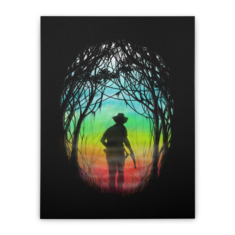 The Hunt Home Stretched Canvas by flintskyy's Artist Shop