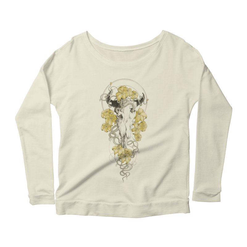 Forgotten Terror Women's Longsleeve Scoopneck  by flintskyy's Artist Shop