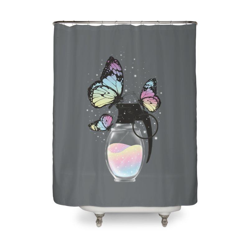 Positive Destruction Home Shower Curtain by flintskyy's Artist Shop