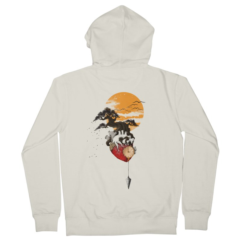 Time Women's French Terry Zip-Up Hoody by flintskyy's Artist Shop