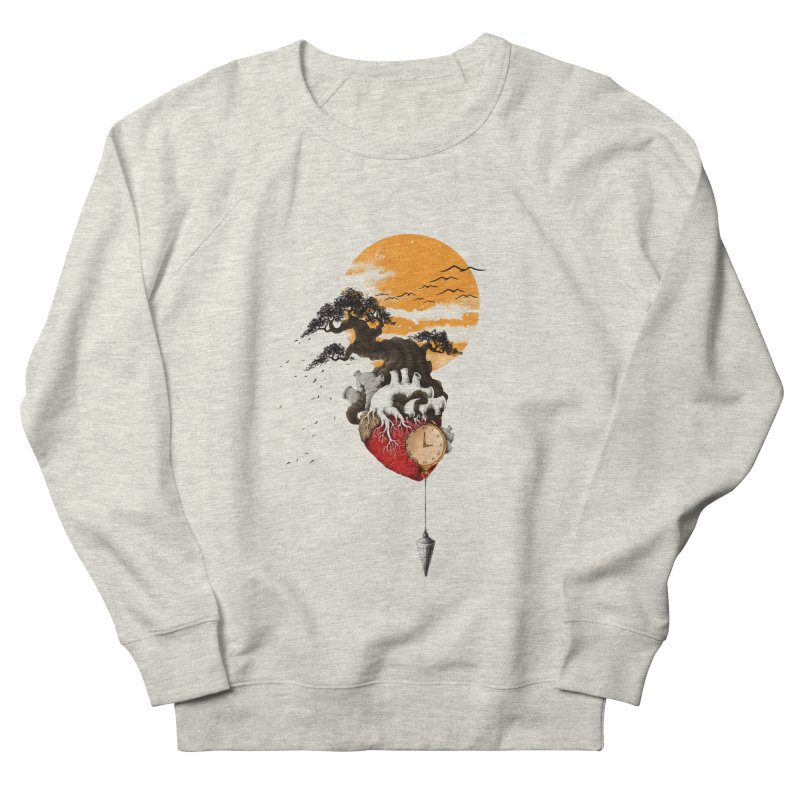 Time Men's French Terry Sweatshirt by flintskyy's Artist Shop