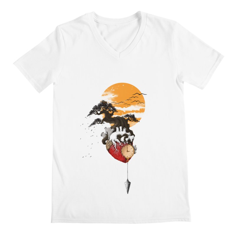 Time Men's V-Neck by flintskyy's Artist Shop