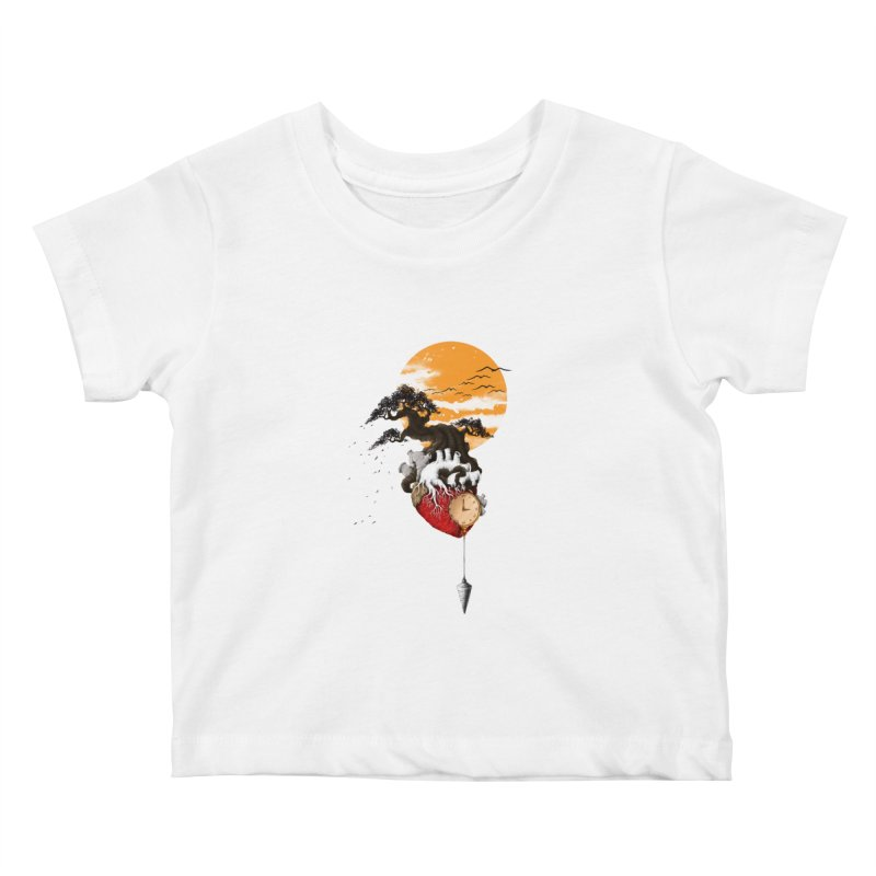 Time Kids Baby T-Shirt by flintskyy's Artist Shop