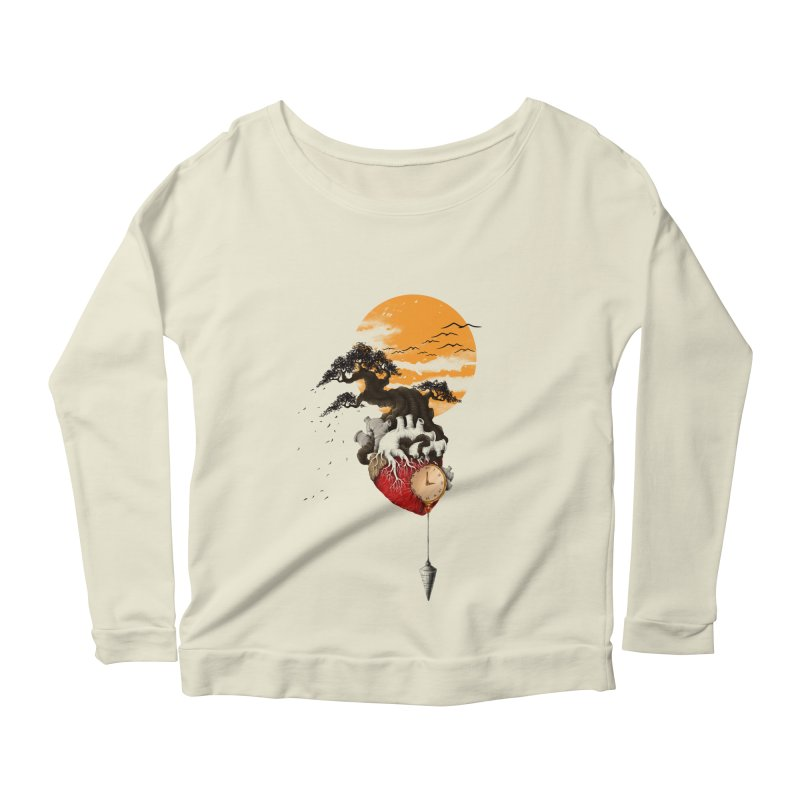 Time Women's Longsleeve Scoopneck  by flintskyy's Artist Shop