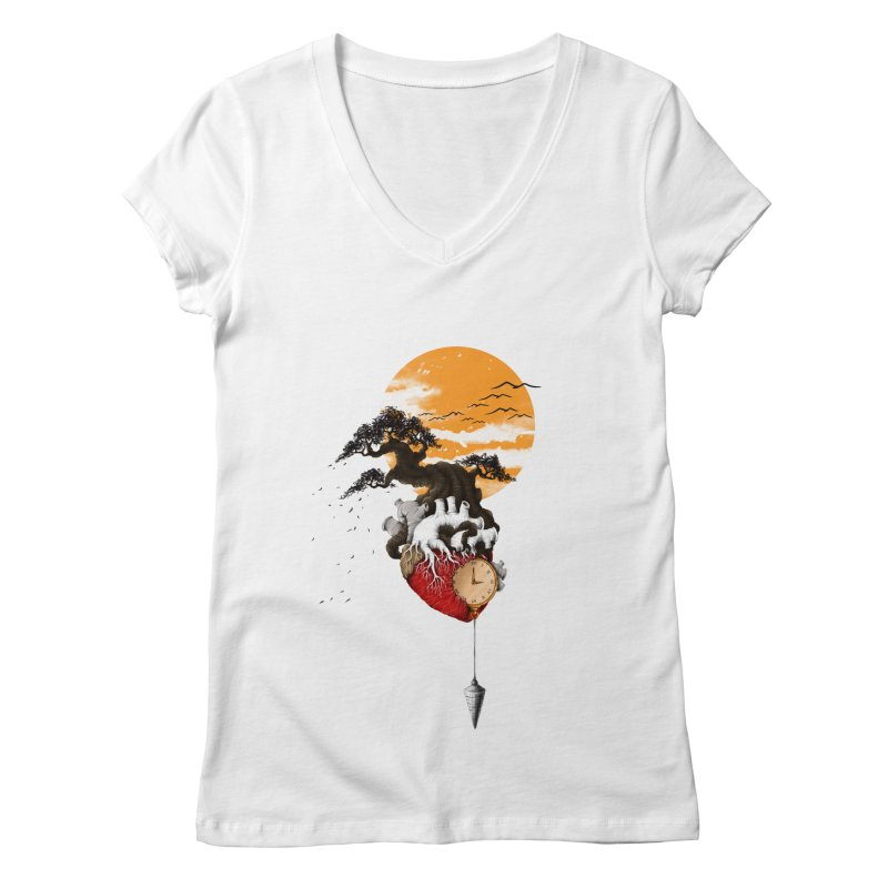 Time Women's V-Neck by flintskyy's Artist Shop