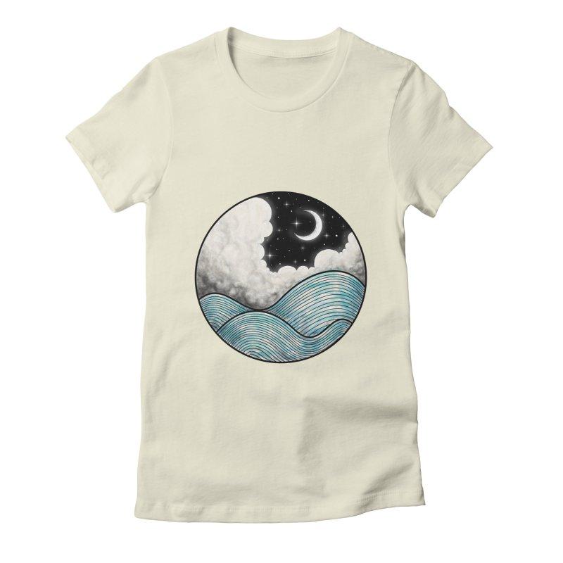 Dreamy Night Women's Fitted T-Shirt by flintskyy's Artist Shop