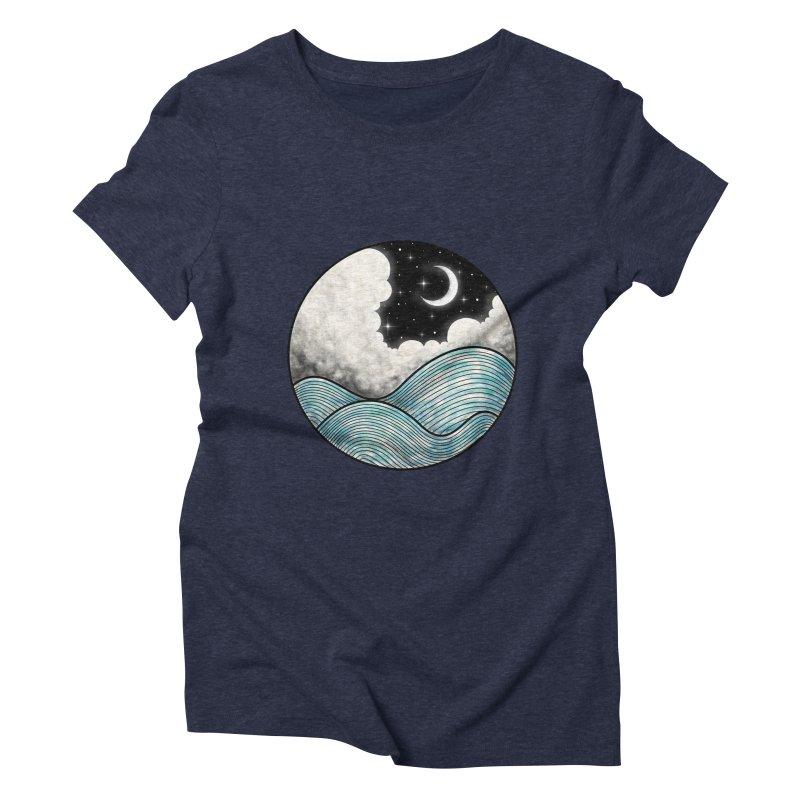Dreamy Night Women's Triblend T-Shirt by flintskyy's Artist Shop