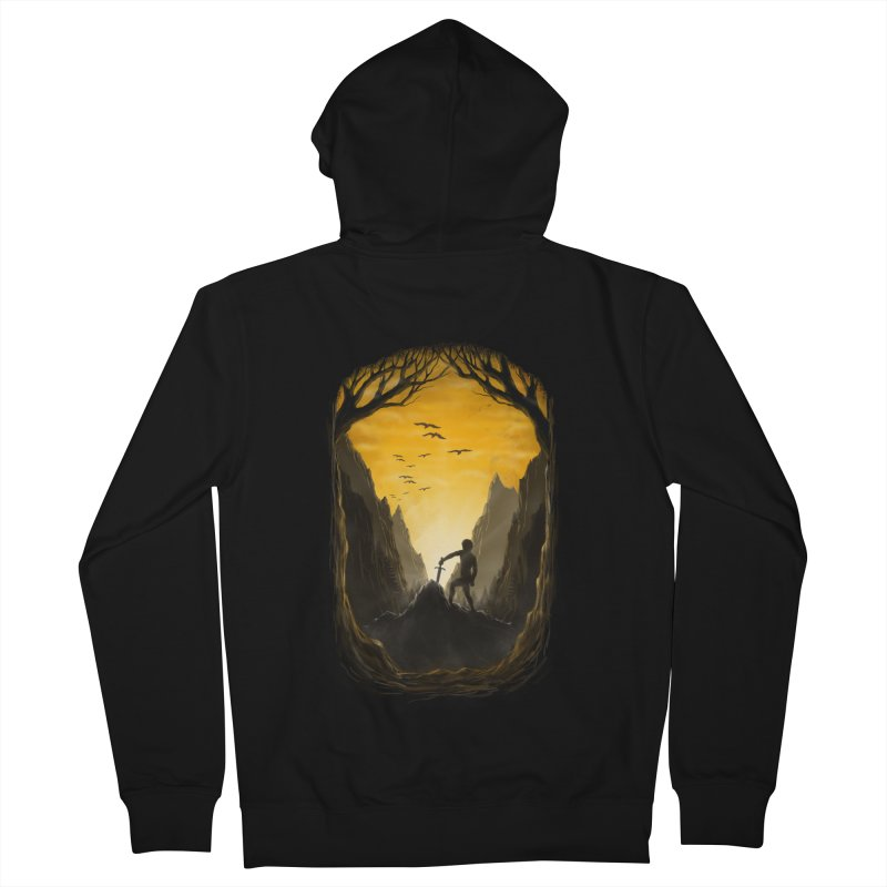 Excalibur Men's Zip-Up Hoody by flintskyy's Artist Shop