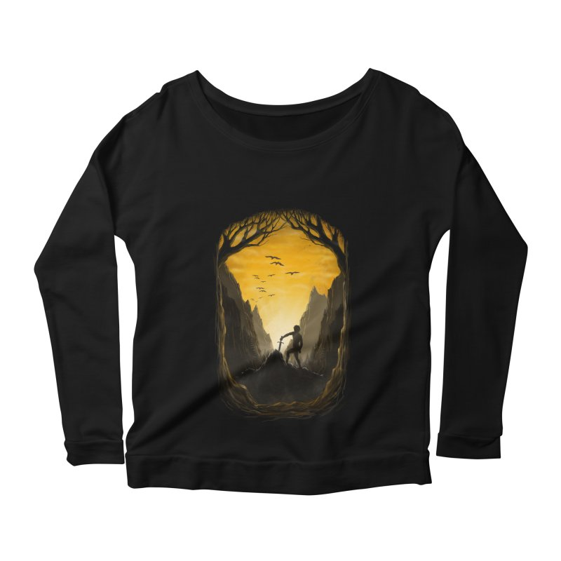 Excalibur Women's Longsleeve Scoopneck  by flintskyy's Artist Shop