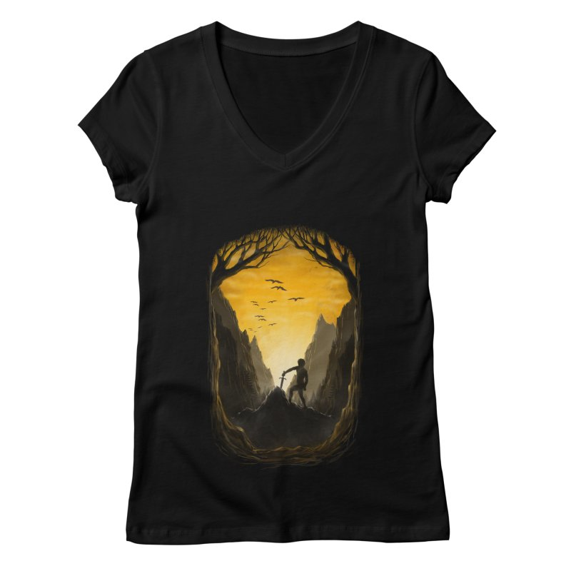 Excalibur Women's V-Neck by flintskyy's Artist Shop