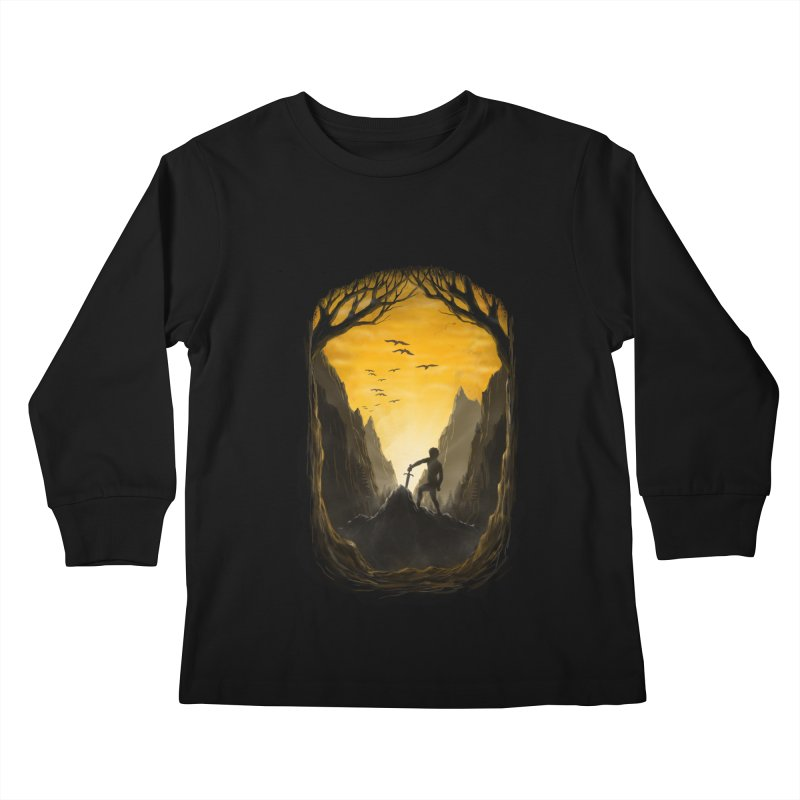 Excalibur Kids Longsleeve T-Shirt by flintskyy's Artist Shop