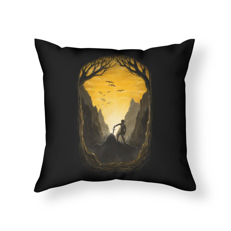 Excalibur Home Throw Pillow by flintskyy's Artist Shop