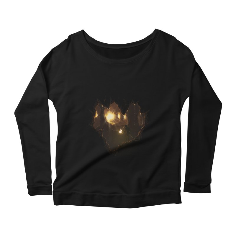 Descend  Women's Longsleeve Scoopneck  by flintskyy's Artist Shop