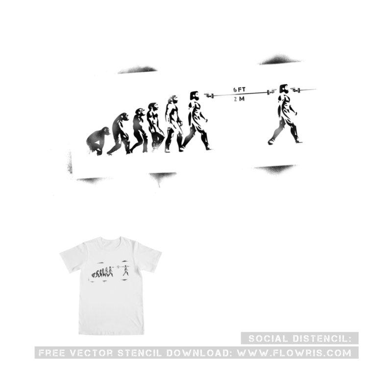 SOCIAL DISTENCEL Men's T-Shirt by floWris's Artist Shop