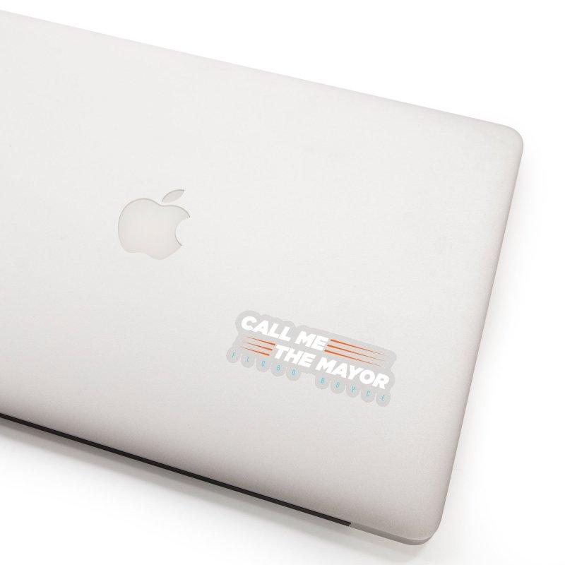 Call Me The Mayor (Orange) Accessories Sticker by Flobito.com Shop