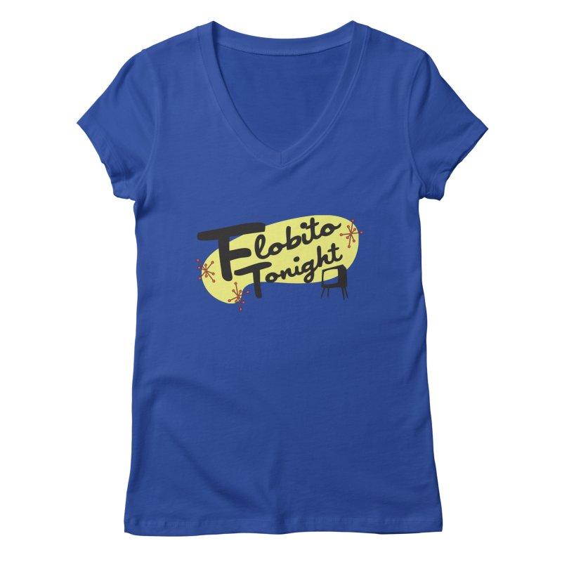 DJ Flobito Women's V-Neck by Flobito.com Shop