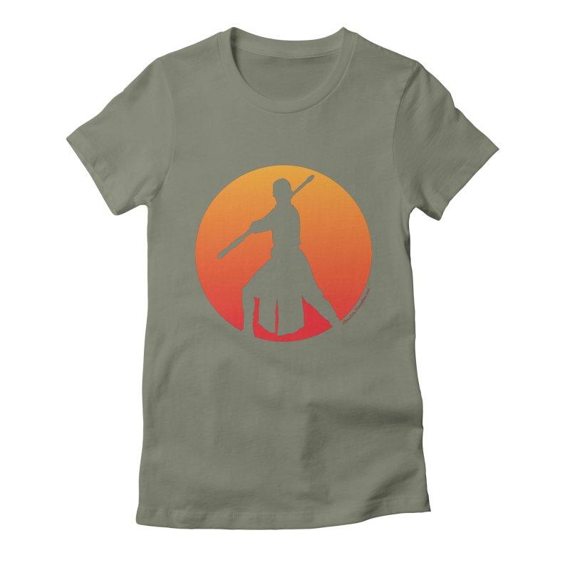 Awaken Women's Fitted T-Shirt by FloresArts