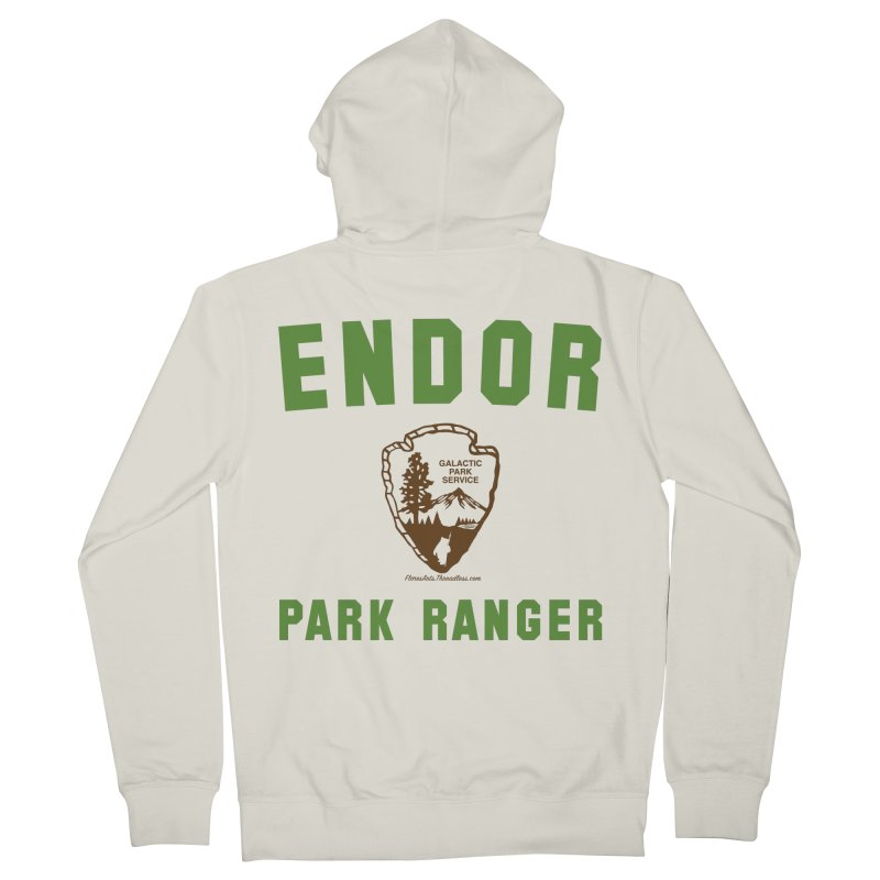 Endor Park Ranger Women's French Terry Zip-Up Hoody by FloresArts