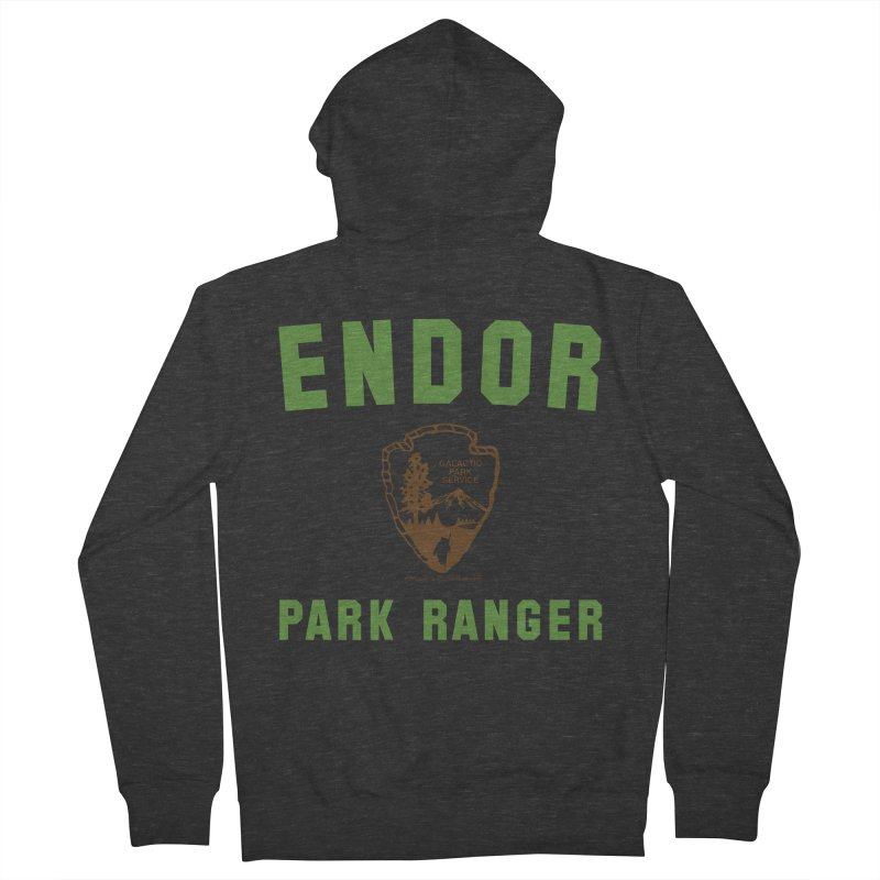 Endor Park Ranger Men's French Terry Zip-Up Hoody by FloresArts