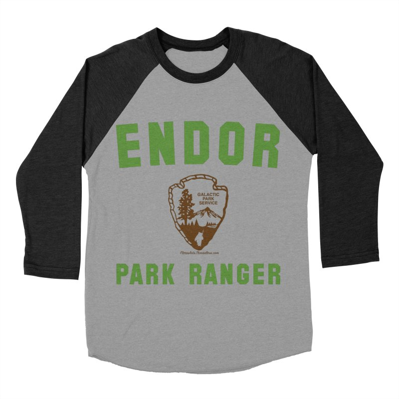 Endor Park Ranger Men's Baseball Triblend Longsleeve T-Shirt by FloresArts