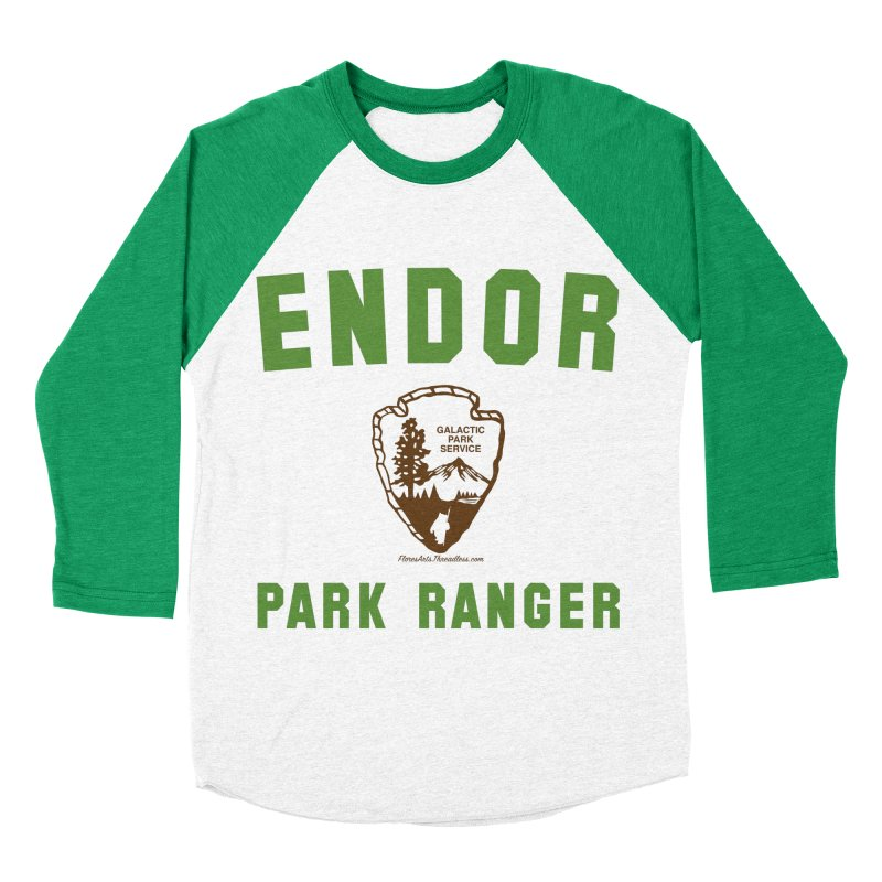Endor Park Ranger Men's Baseball Triblend Longsleeve T-Shirt by FloresArts
