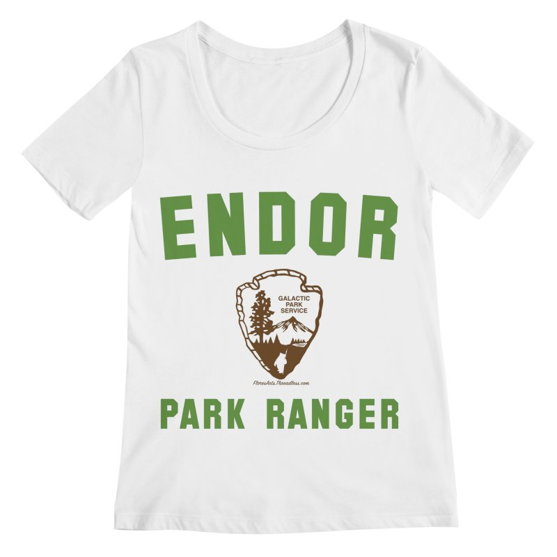 Endor Park Ranger Women's Regular Scoop Neck by FloresArts