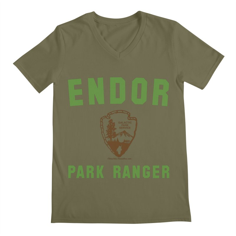 Endor Park Ranger Men's V-Neck by FloresArts