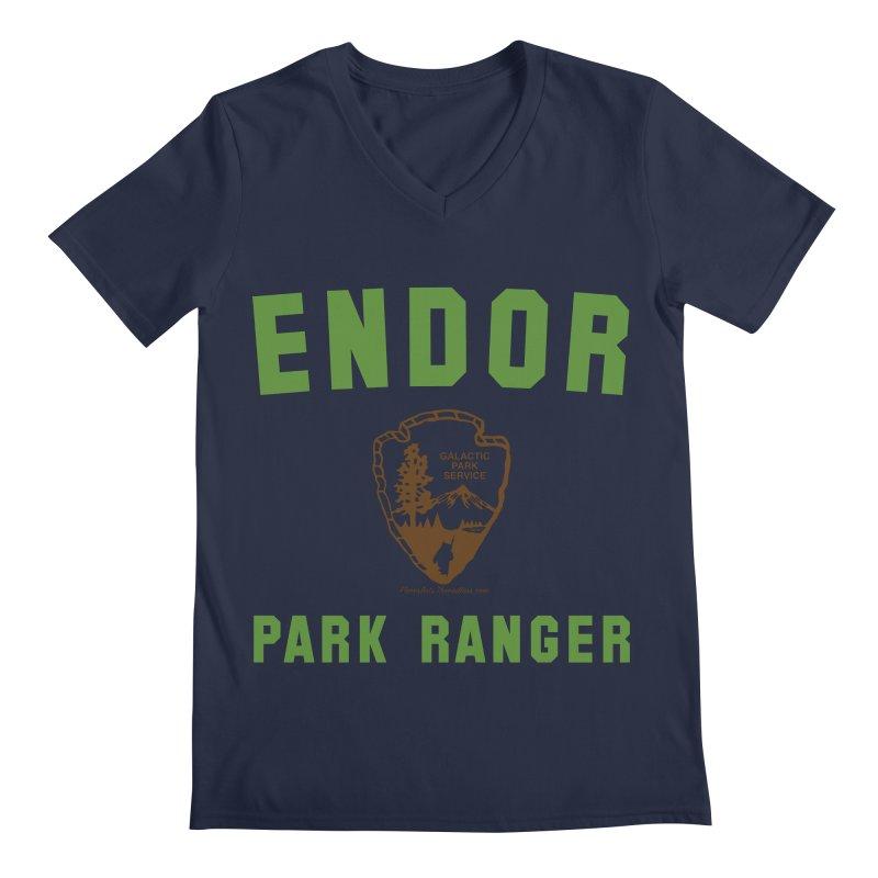 Endor Park Ranger Men's Regular V-Neck by FloresArts