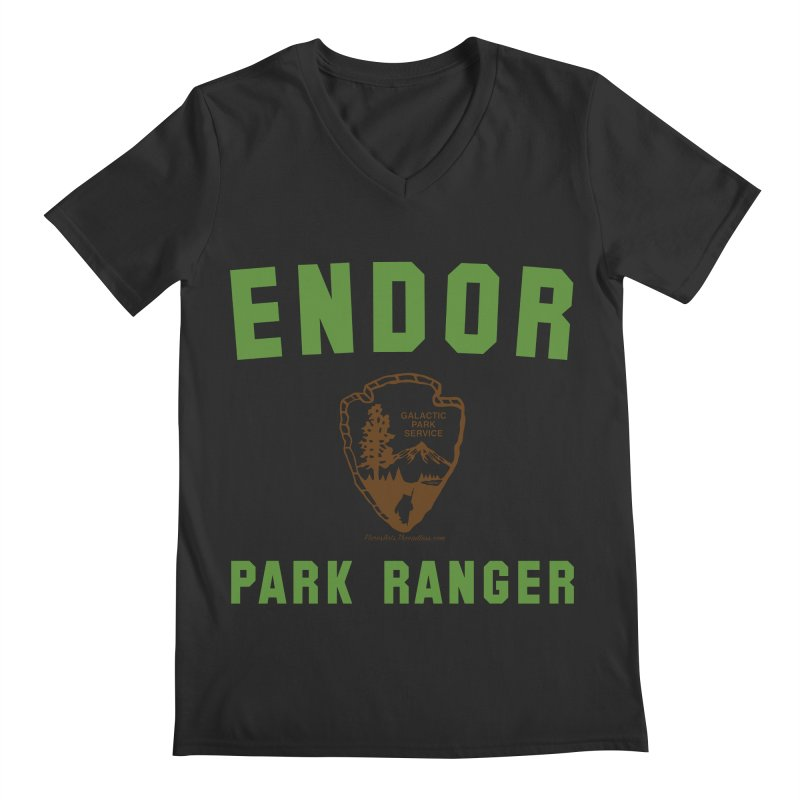 Endor Park Ranger Men's Regular V-Neck by FloresArts