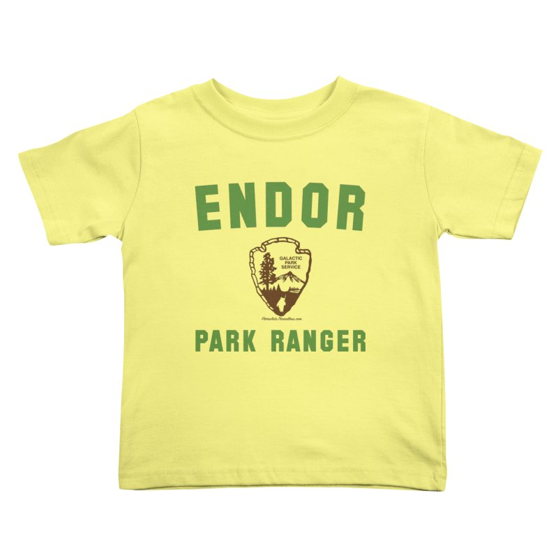 Endor Park Ranger Kids Toddler T-Shirt by FloresArts