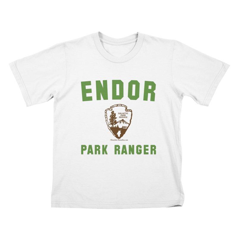 Endor Park Ranger Kids T-shirt by FloresArts