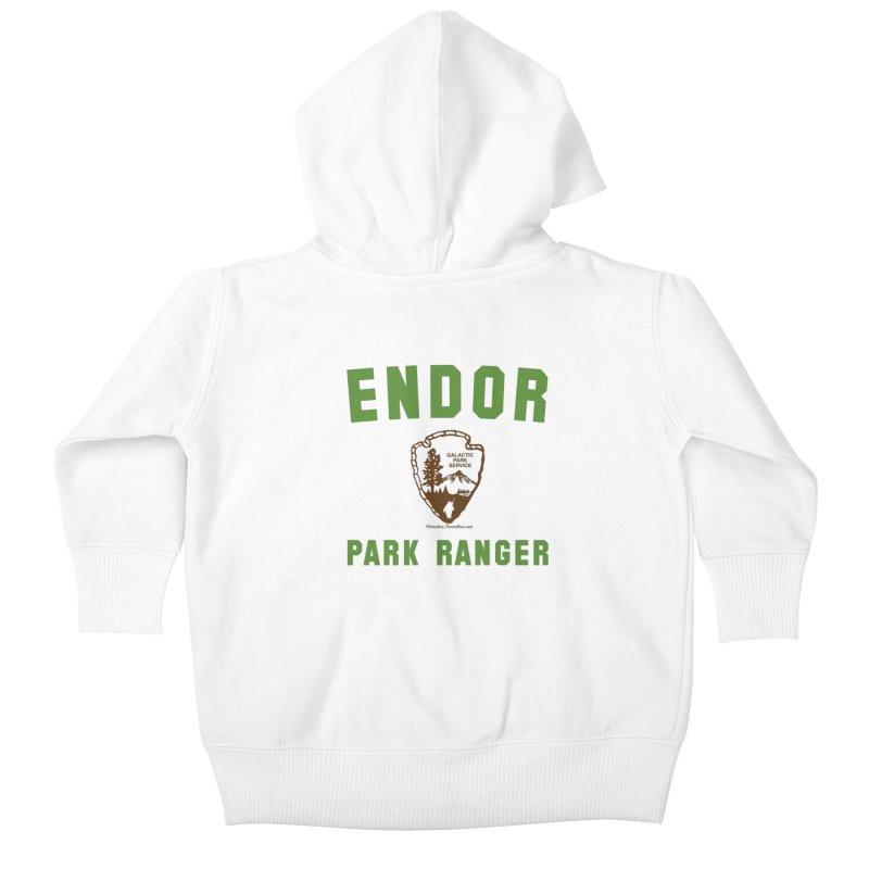Endor Park Ranger Kids Baby Zip-Up Hoody by FloresArts